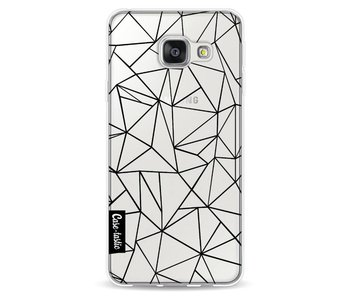 Abstraction Outline Black Transparent - Samsung Galaxy A3 (2016)