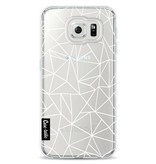 Casetastic Softcover Samsung Galaxy S6 - Abstraction Outline White Transparent