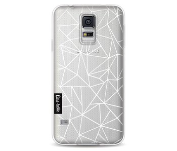 Abstraction Outline White Transparent - Samsung Galaxy S5