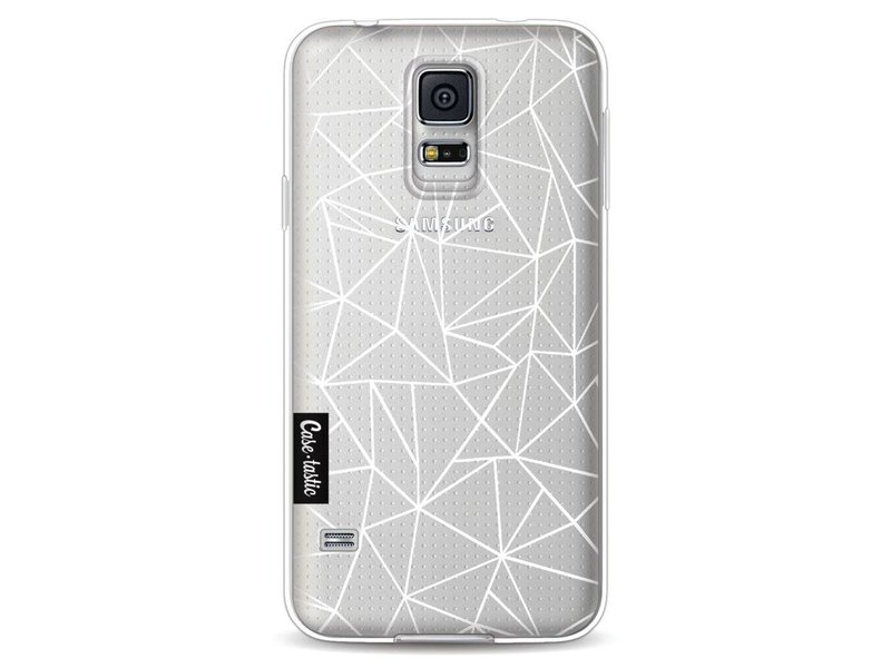 Casetastic Softcover Samsung Galaxy S5 - Abstraction Outline White Transparent