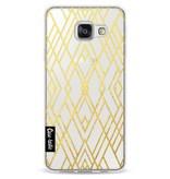 Casetastic Softcover Samsung Galaxy A3 (2016) - Art Deco Gold Transparent