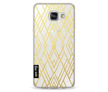 Art Deco Gold Transparent - Samsung Galaxy A3 (2016)