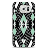 Casetastic Softcover Samsung Galaxy S6 - Art Deco Mint
