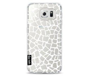 British Mosaic White Transparent - Samsung Galaxy S6