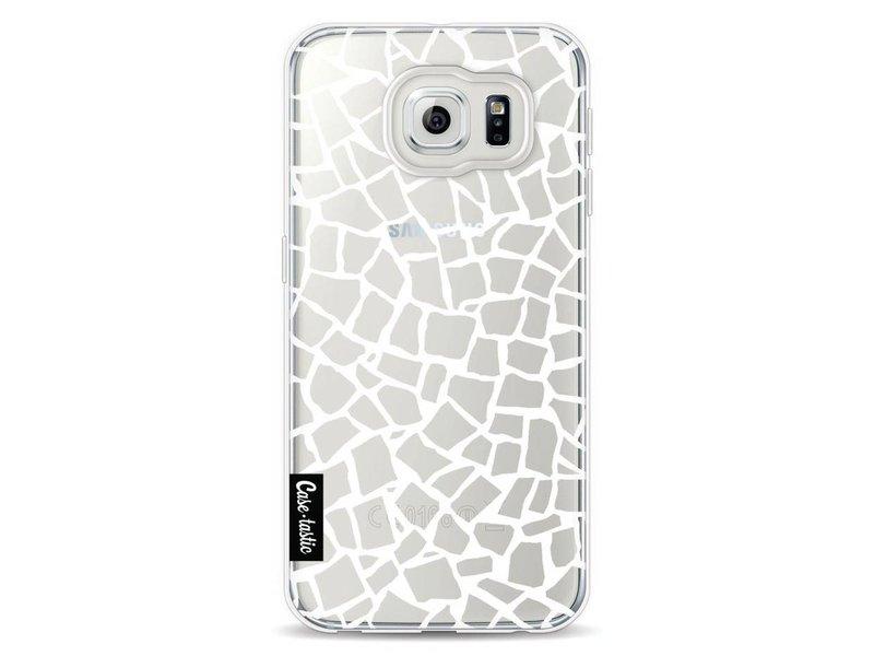 Casetastic Softcover Samsung Galaxy S6 - British Mosaic White Transparent
