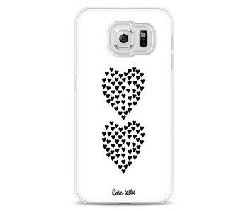 Hearts Heart 2 White - Samsung Galaxy S6