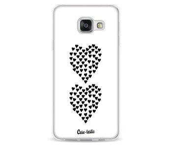 Hearts Heart 2 White - Samsung Galaxy A3 (2016)
