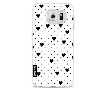 Pin Point Hearts White - Samsung Galaxy S6