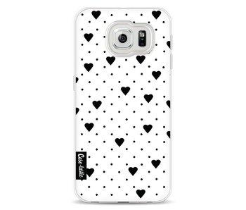Pin Point Hearts White - Samsung Galaxy S6