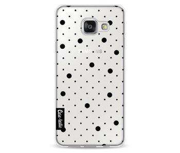 Pin Points Polka Black Transparent - Samsung Galaxy A3 (2016)