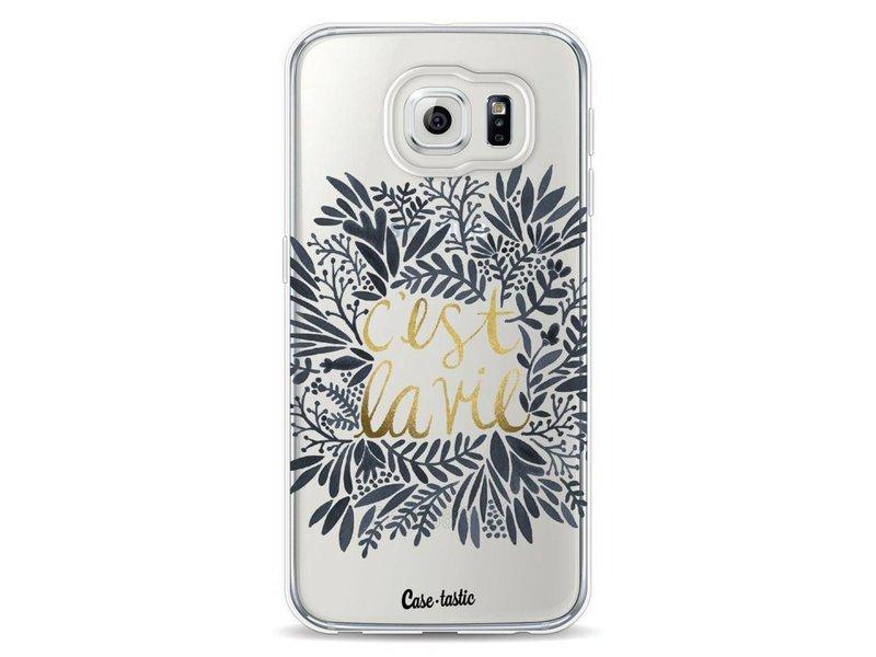 Casetastic Softcover Samsung Galaxy S6 - Cest La Vie BlackGold