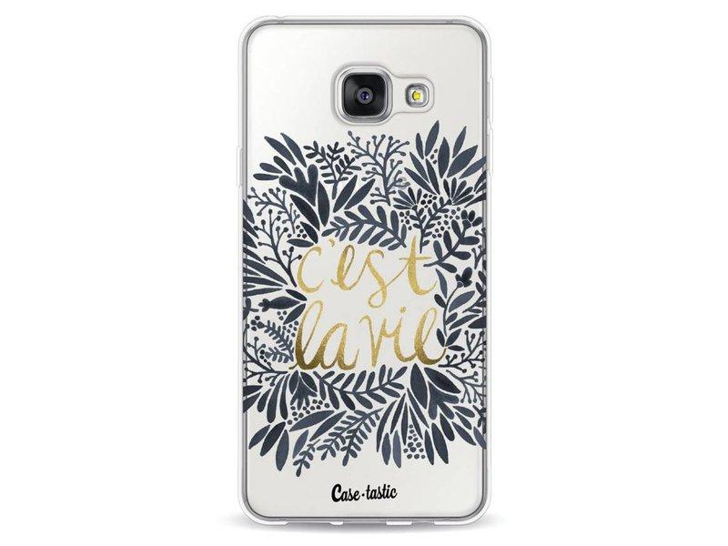 Casetastic Softcover Samsung Galaxy A3 (2016) - Cest La Vie BlackGold