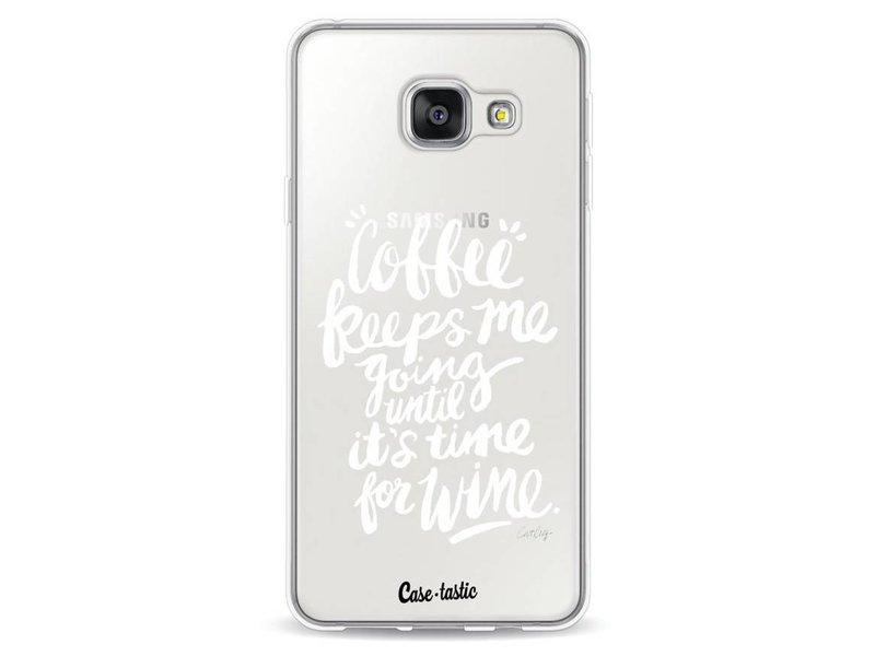Casetastic Softcover Samsung Galaxy A3 (2016) - Coffee Wine White Transparent