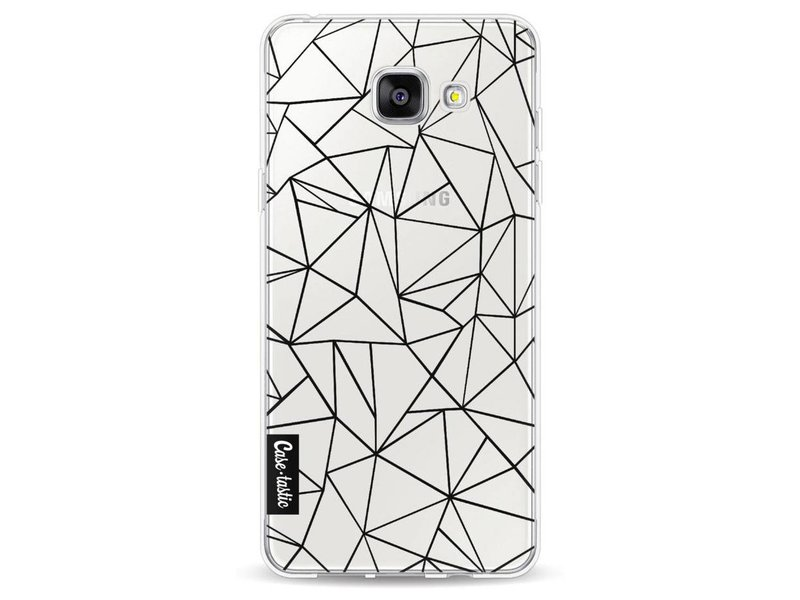 Casetastic Softcover Samsung Galaxy A5 (2016) - Abstraction Outline Black Transparent