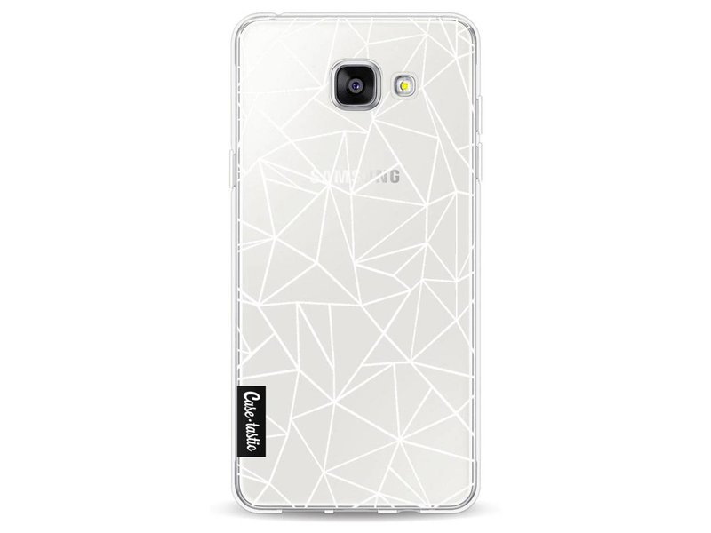 Casetastic Softcover Samsung Galaxy A5 (2016) - Abstraction Outline White Transparent