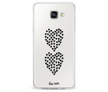 Hearts Heart 2 Black Transparent - Samsung Galaxy A5 (2016)