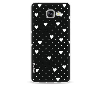 Pin Point Hearts Black - Samsung Galaxy A5 (2016)