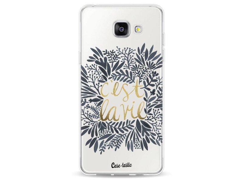 Casetastic Softcover Samsung Galaxy A5 (2016) - Cest La Vie BlackGold