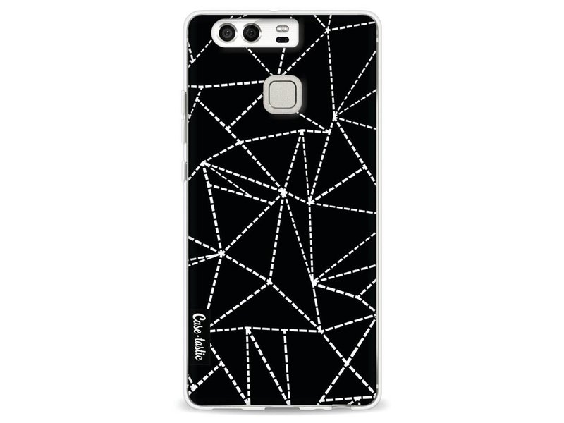 Casetastic Softcover Huawei P9 - Abstract Dotted Lines Black