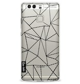 Casetastic Softcover Huawei P9 - Abstract Dotted Lines Black Transparent