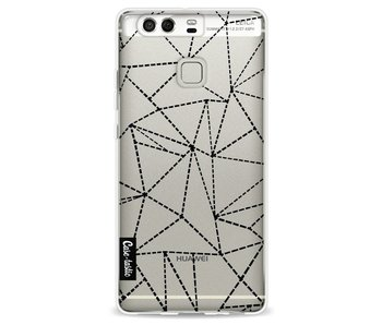 Abstract Dotted Lines Black Transparent - Huawei P9