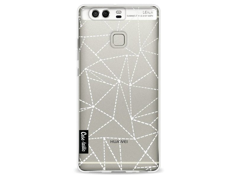 Casetastic Softcover Huawei P9 - Abstract Dotted Lines Transparent