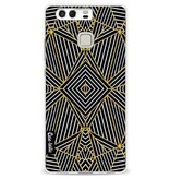 Casetastic Softcover Huawei P9 - Abstraction Half Gold