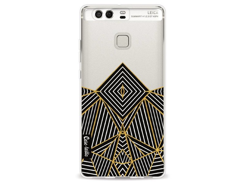 Casetastic Softcover Huawei P9 - Abstraction Half Transparent