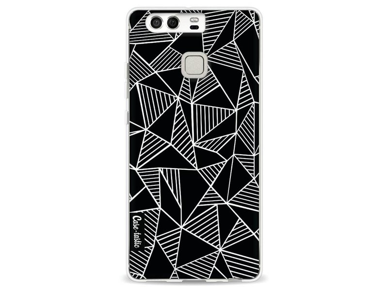 Casetastic Softcover Huawei P9 - Abstraction Lines Black