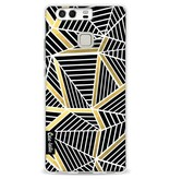 Casetastic Softcover Huawei P9 - Abstraction Lines Black Gold