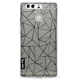 Casetastic Softcover Huawei P9 - Abstraction Lines Transparent