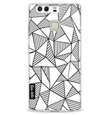 Casetastic Softcover Huawei P9 - Abstraction Lines White
