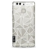 Casetastic Softcover Huawei P9 - Abstraction Lines White Transparent