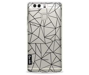 Abstraction Outline Black Transparent - Huawei P9