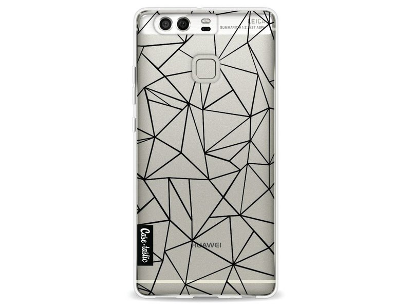 Casetastic Softcover Huawei P9 - Abstraction Outline Black Transparent