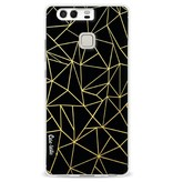 Casetastic Softcover Huawei P9 - Abstraction Outline Gold