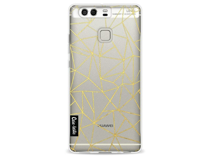 Casetastic Softcover Huawei P9 - Abstraction Outline Gold Transparent