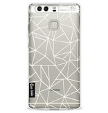 Casetastic Softcover Huawei P9 - Abstraction Outline White Transparent