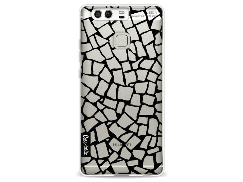 Casetastic Softcover Huawei P9 - British Mosaic Black Transparent