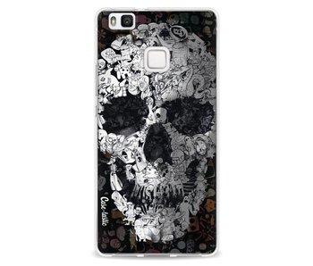 Doodle Skull BW - Huawei P9 Lite