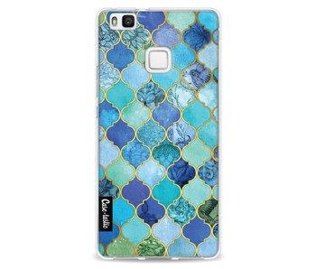 Aqua Moroccan Tiles - Huawei P9 Lite