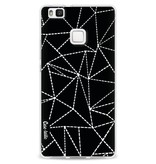 Casetastic Softcover Huawei P9 Lite - Abstract Dotted Lines Black