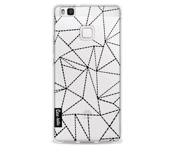 Abstract Dotted Lines Black Transparent - Huawei P9 Lite