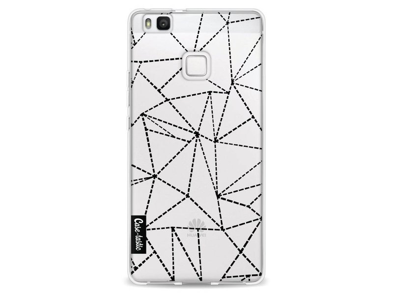 Casetastic Softcover Huawei P9 Lite - Abstract Dotted Lines Black Transparent