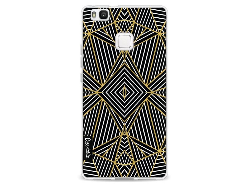 Casetastic Softcover Huawei P9 Lite - Abstraction Half Gold
