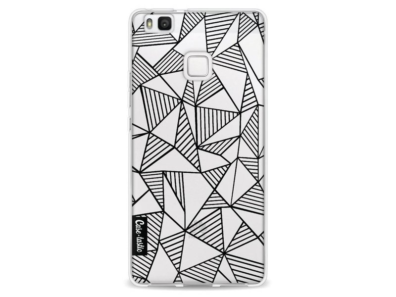 Casetastic Softcover Huawei P9 Lite - Abstraction Lines Black Transparent