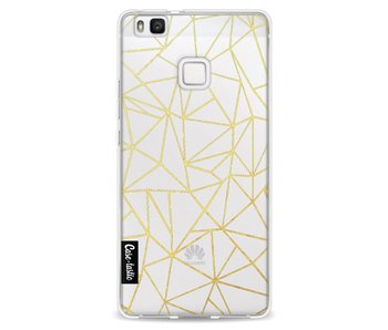 Abstraction Outline Gold Transparent - Huawei P9 Lite