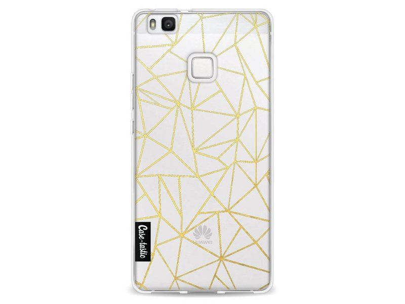 Casetastic Softcover Huawei P9 Lite - Abstraction Outline Gold Transparent