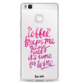 Casetastic Softcover Huawei P9 Lite - Coffee Wine Pink
