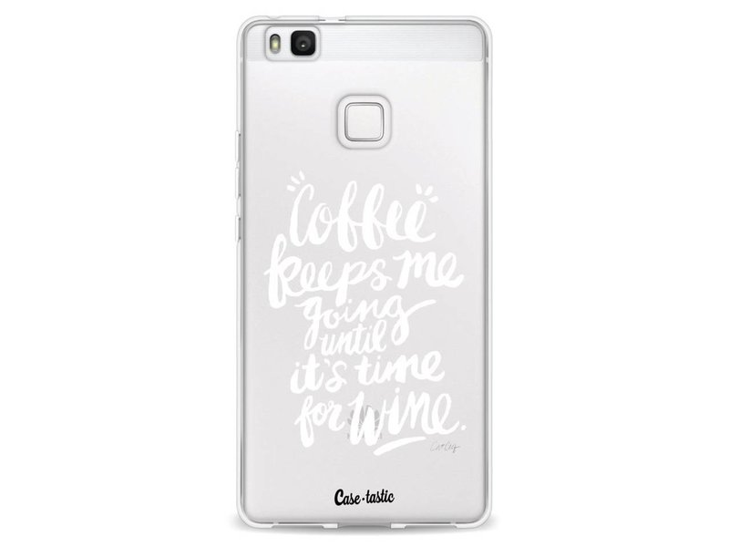 Casetastic Softcover Huawei P9 Lite - Coffee Wine White Transparent